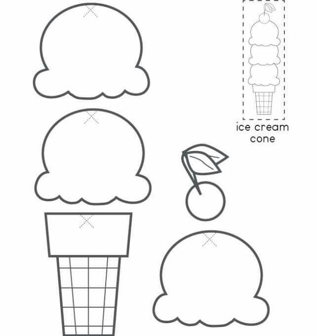 Arma el helado | Bocetos/plantillas | Pinterest | Math activities ...