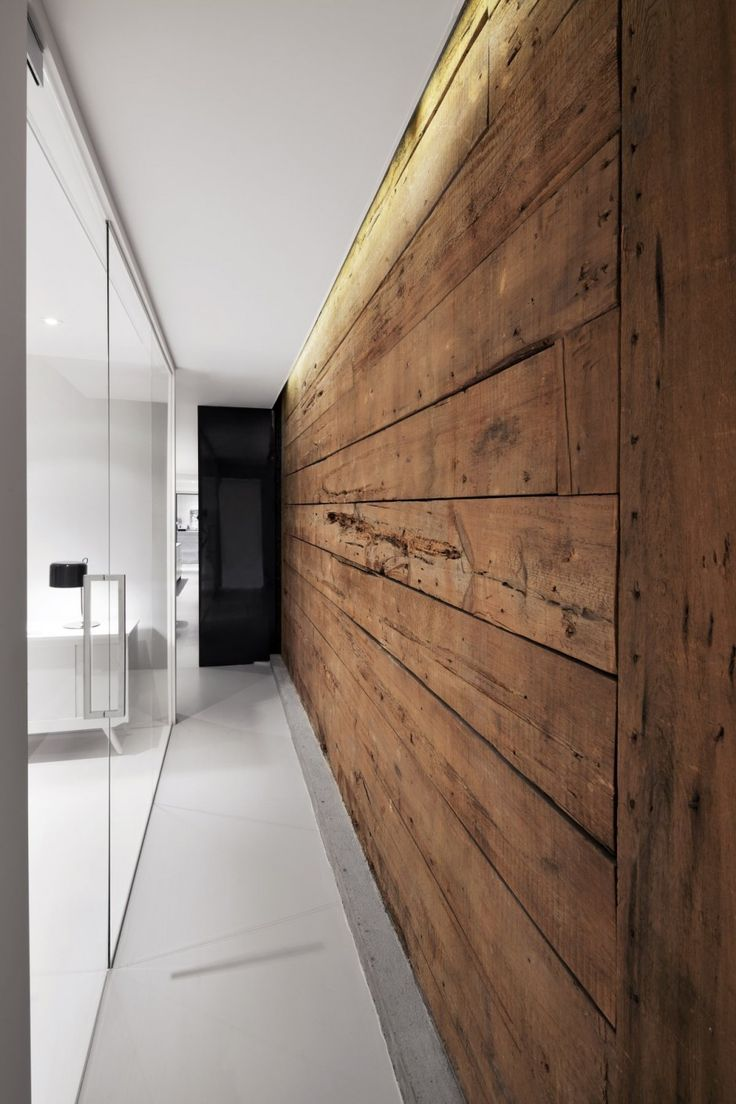 Wood And Wall.Timber Clad Wall Hallway Wood Cladding House Design