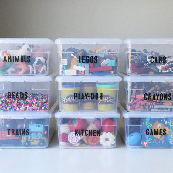 10 Custom Vinyl Labels for Home Organization from The Orderly Space
