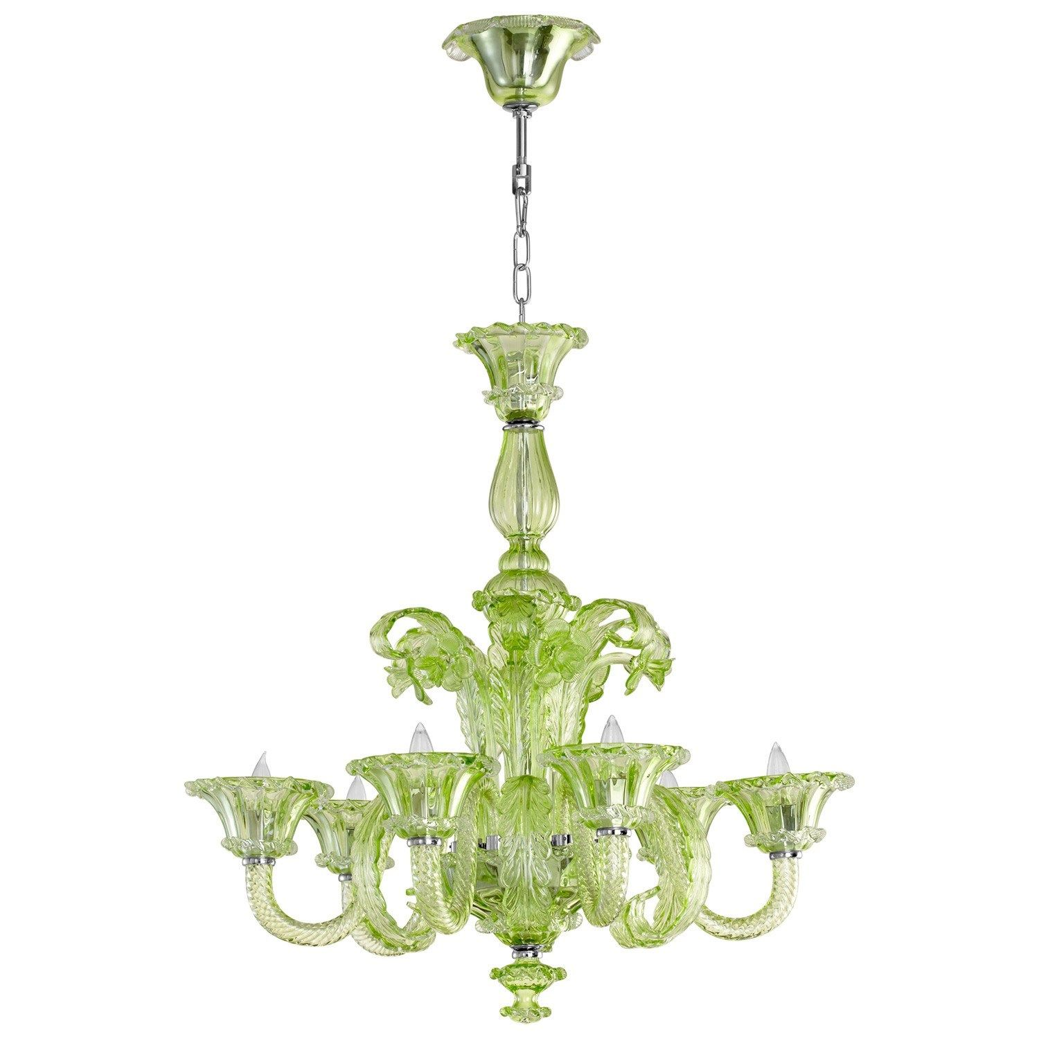 Lascala Green Chandelier from LaylaGrayce laylagrayce lighting