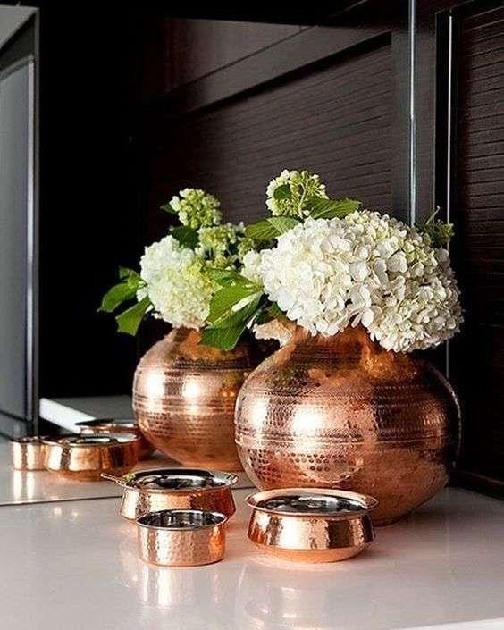Arredare casa con il color rame - Vasi e oggetti rame | Rame, Vasi e ...
