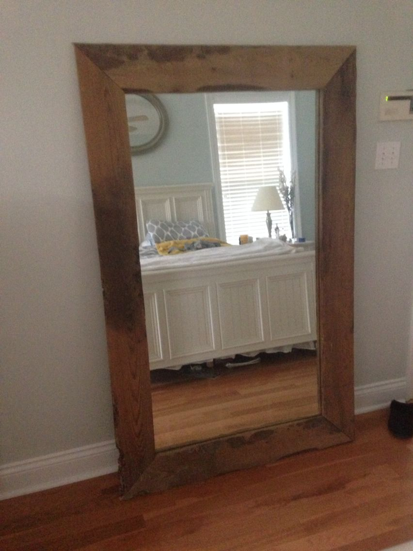 Reclaimed Wood Projects A Mirror From 1955 With Sinker Cypress Trim Reclaimed Wood