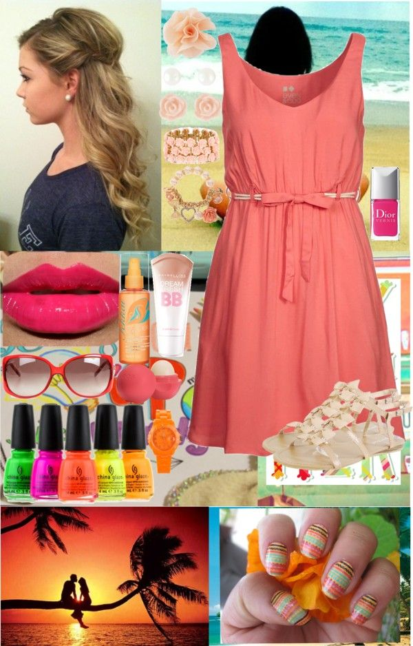 """""""Summer!! :)"""" by jmcsparin ❤ liked on Polyvore"""