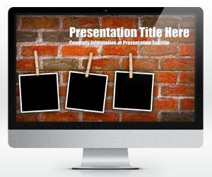 Free awesome powerpoint templates free ppt powerpoint brick wall powerpoint template with photo placeholders is a free widescreen powerpoint background template with three photo placeholders clipped in a red toneelgroepblik Gallery