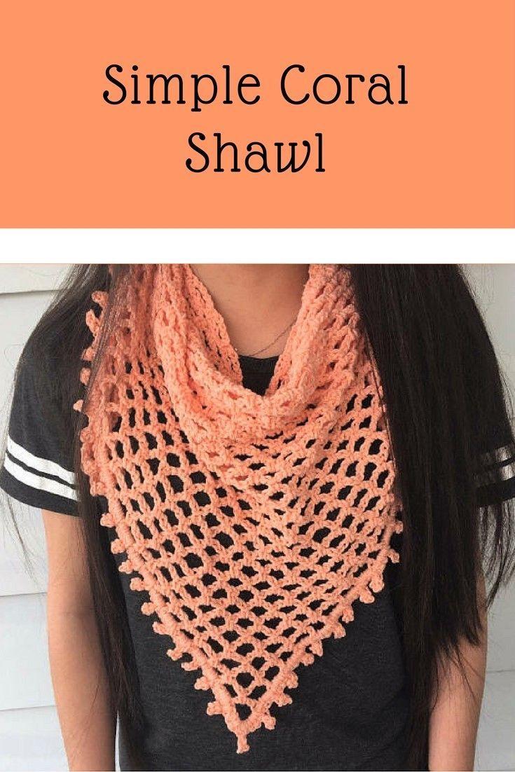 Crochet Triangle Scarf Pattern / Spring Scarf Tutorial / Crochet ...