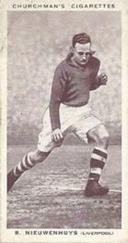 Berry Nieuwenhuys, Liverpool F.C. Cromo de Churchuman's Cigarettes, 1938
