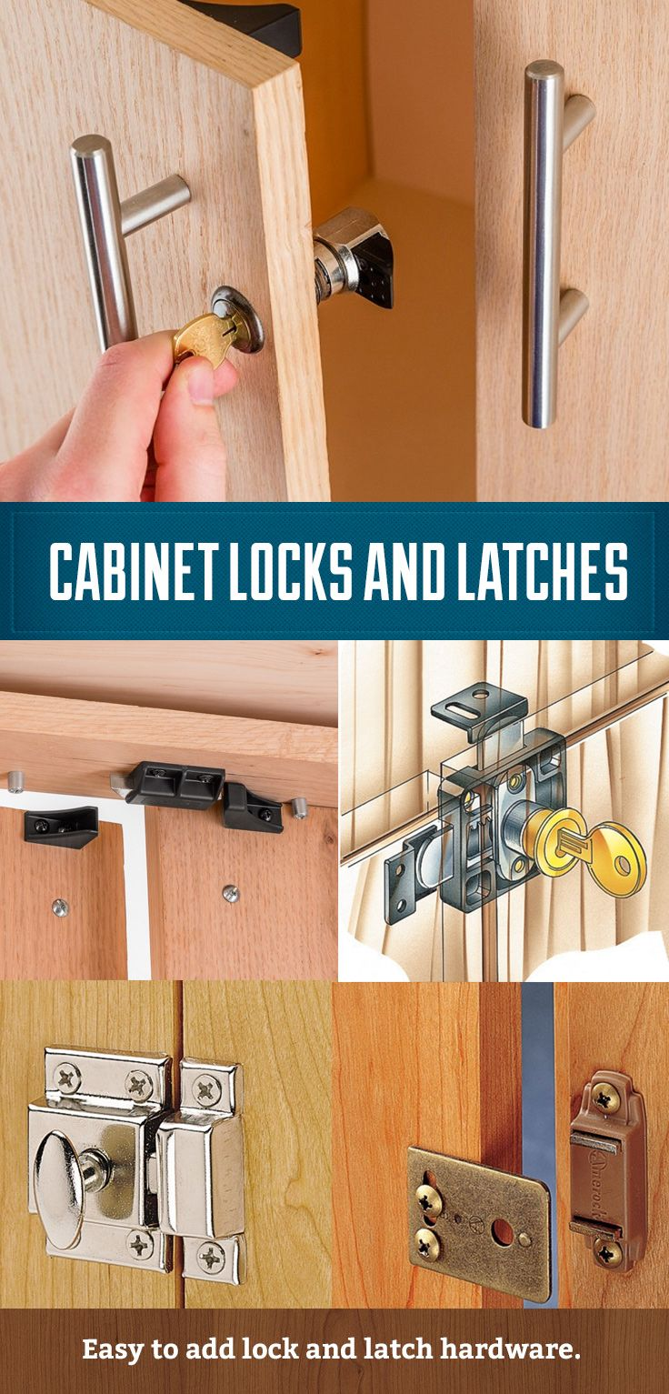 Cabinet Locks Catches And Latches Easy To Install Hardware Https Www Rockler Com Hardware Project H Cabinet Locks Installing Kitchen Cabinets Diy Cabinets