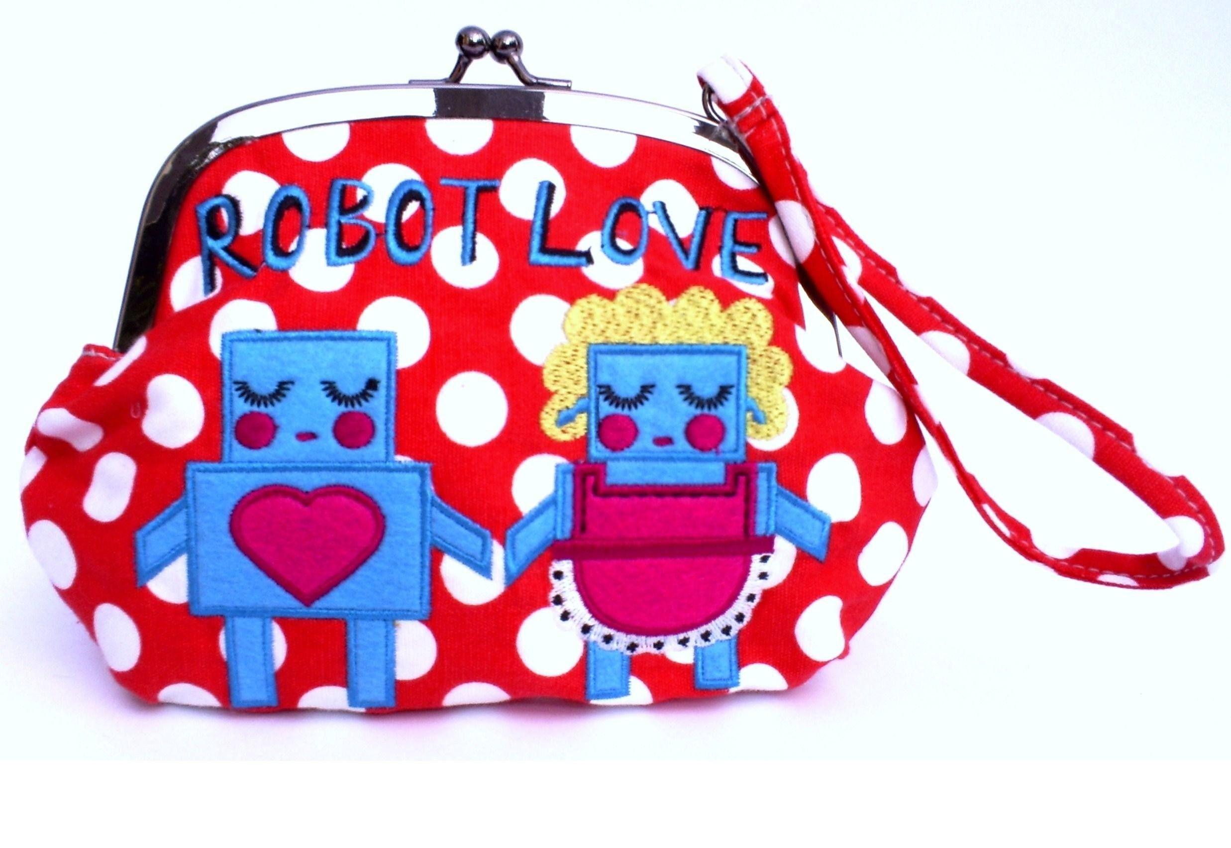 Robot Love Wristlet, by http://www.kategarey.com