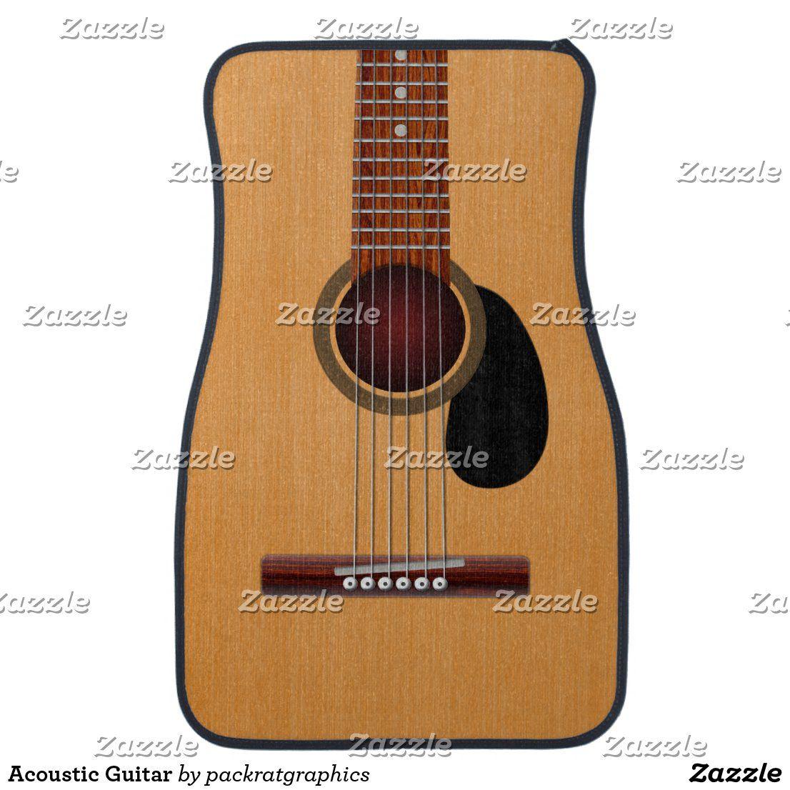 Acoustic Guitar Car Mat Zazzle Com In 2020 Acoustic Guitar Tuner Guitar Acoustic