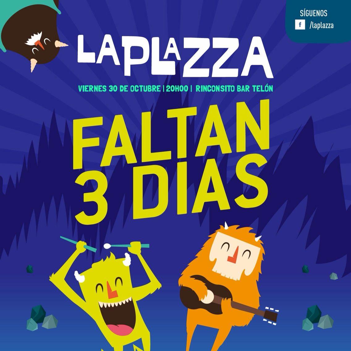 Estamos a solo 3 días! Se viene #LaPlazza2015 ! Ya tienes tus entradas? ::: ENTRADAS YA A LA VENTA::: $10 preventa $15 el día del evento!!! - Cu. gallery >> Principal: La Condamine 13-10 y Bajada de el Vado. Sucursal: Borrero 7-39 entre Sucre y Presidente Córdova - Tienda Maki >> Sucre 14-96 y Coronel Talbot - Udafe Universidad del Azuay - Aso Diseño UDA