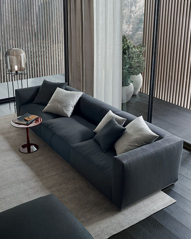 Sofas Hannover shangai sofa and pouf with feather padding removable covering in 14