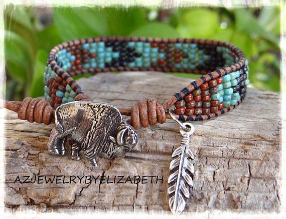 Leather Beaded Wrap Bracelet Leather Beaded Wrap Bracelet For Women Seed Bead Wrap Bracelet Native American Wrap Bracelet Bracelet