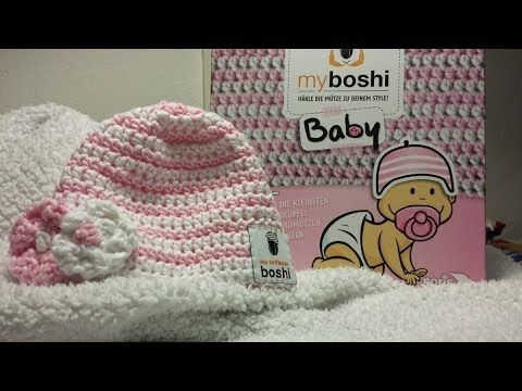 Myboshi Baby Mütze Häkeln Mit Blümchen Youtube Kidzzz Pinterest