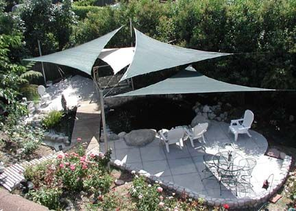 From Large to Small Areas -- Shade Sails let in the light and keep
