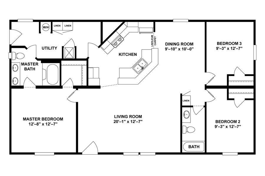 1999 Clayton Mobile Home Floor Plans