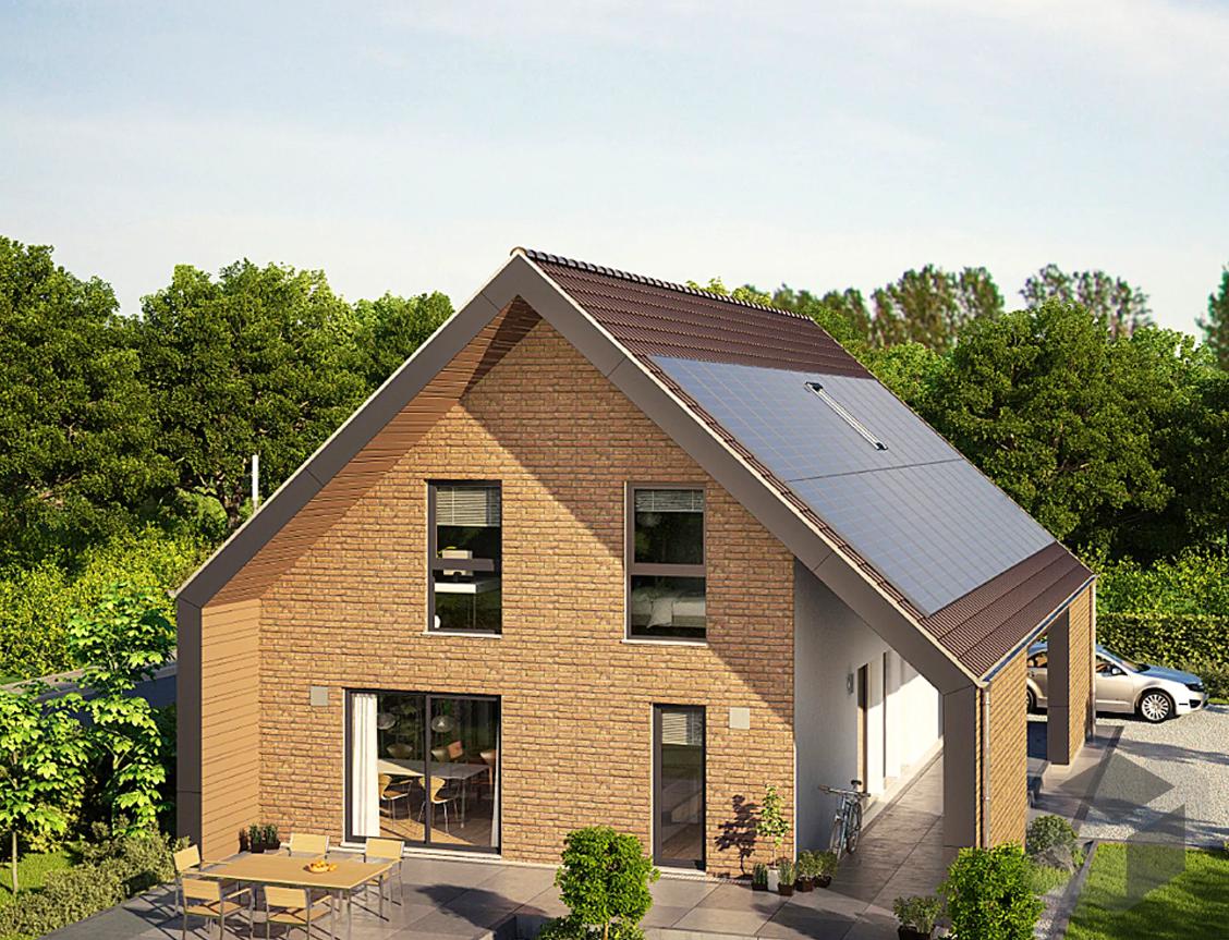 KfW 55 Effizienzhaus mit Photovoltaik in 2020 Haus