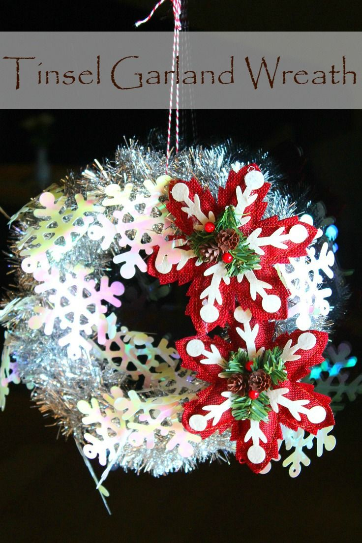TINSEL GARLAND WREATH TUTORIAL - Get into the Christmas spirit with ...