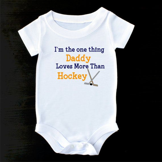 Hockey Baby Bodysuit or Gerber Onesie® Hockey by PrintaColada