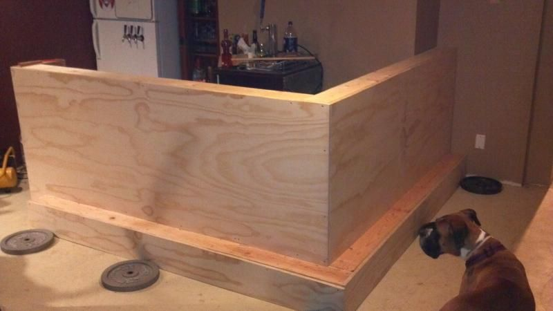 Basement bar build home brew forums diy home bar