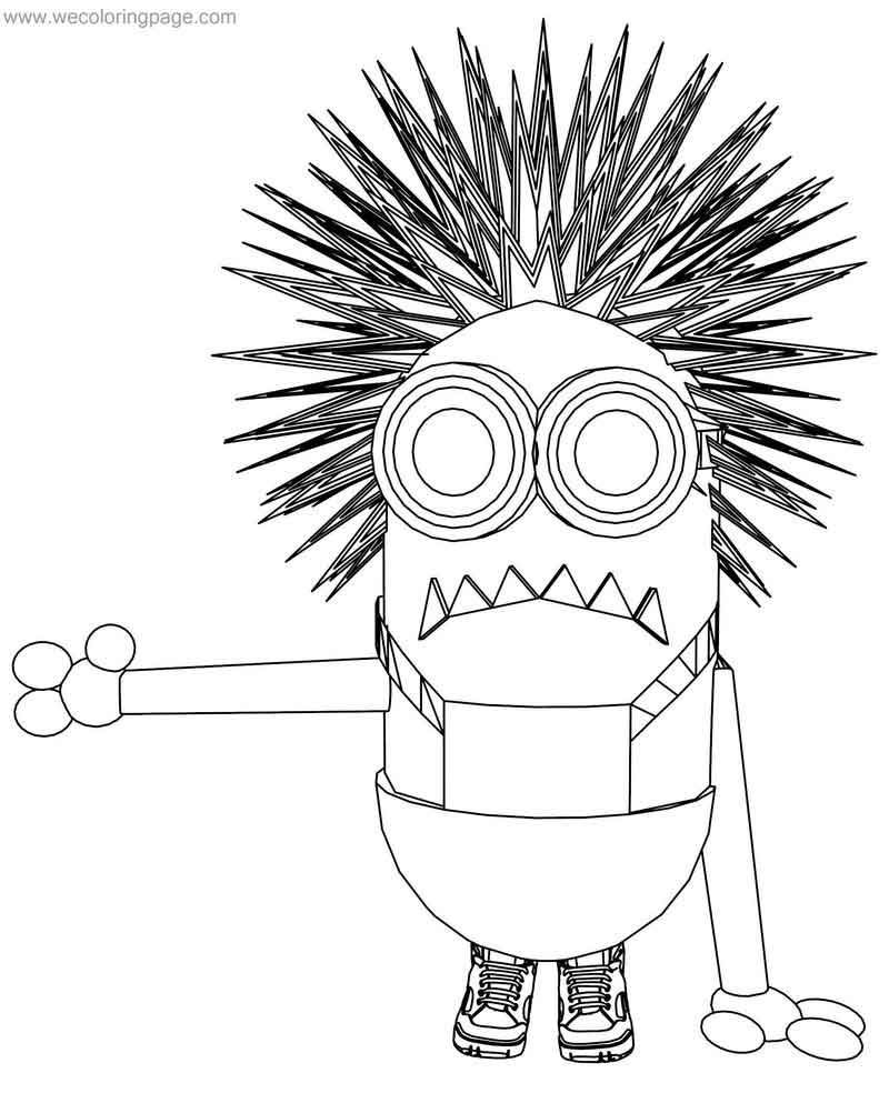Purple Minion Coloring Page