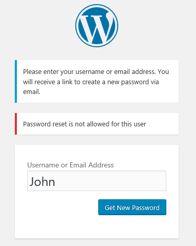 Disable password reset WordPress