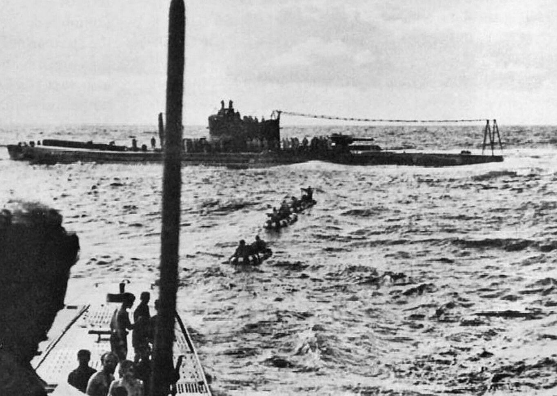 German submarine U-180 transfe...