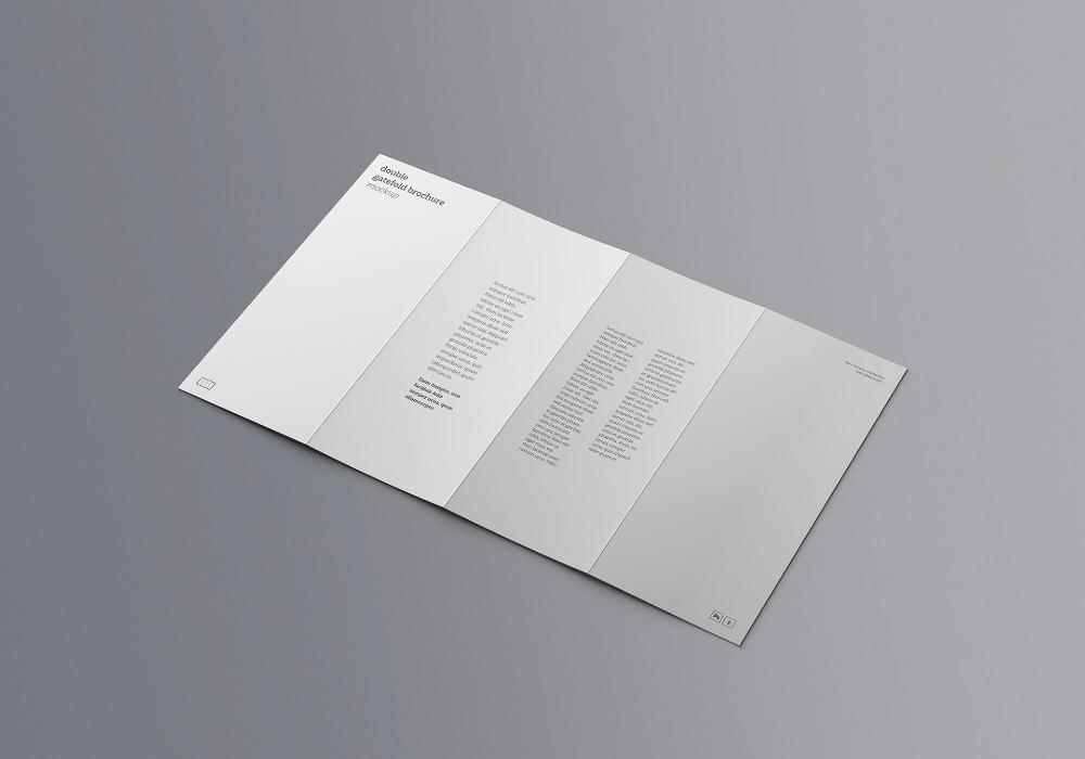 Double Gatefold Brochure Mockup On Behance Brochures Mockups Brochure Mockup Free Psd