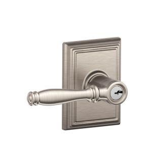 Schlage Addison Collection Birmingham Satin Nickel Keyed Entry Lever  INTERIOR DOORS