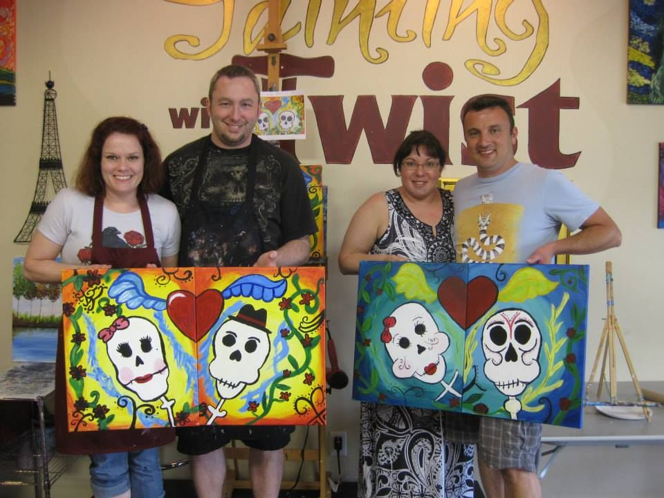 Date night! Knoxville, TN Painting with a Twist Couple