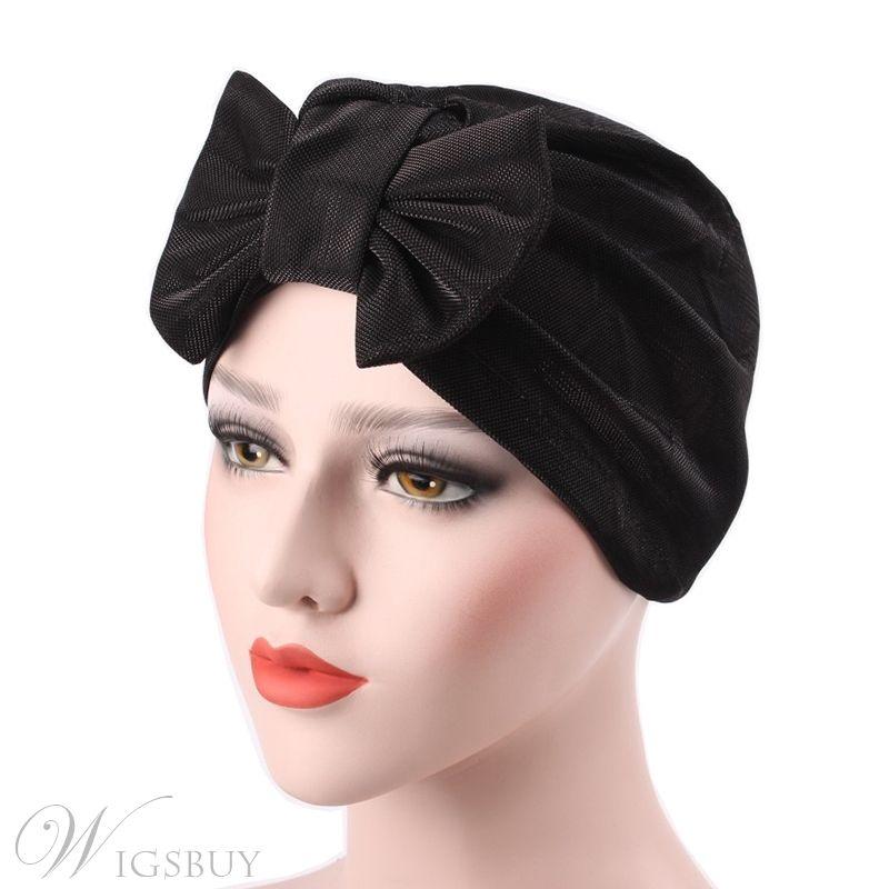 Femmes musulmanes en Velours Turban Chapeau Head Wrap Bow Chimio Hijab Indian Cap underscarf