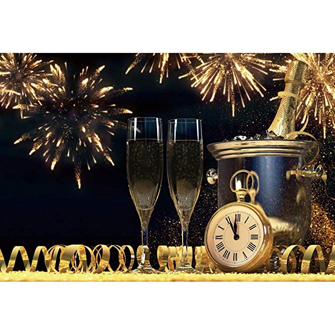 Amazon.com : DaShan 10x8ft 2020 Happy New Year Champagne ...