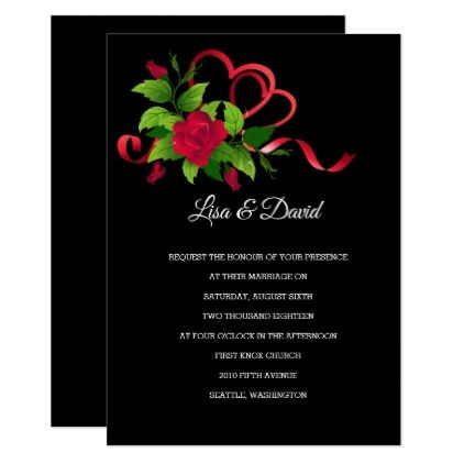Wedding InvitationRed Roses Card wedding invitations cards custom