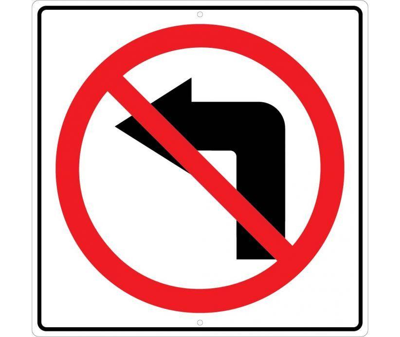 Turn No Mutcd Red Left