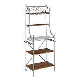 Home Styles The Orleans Silver Metal Bakers Rack 5060 65 Bakers