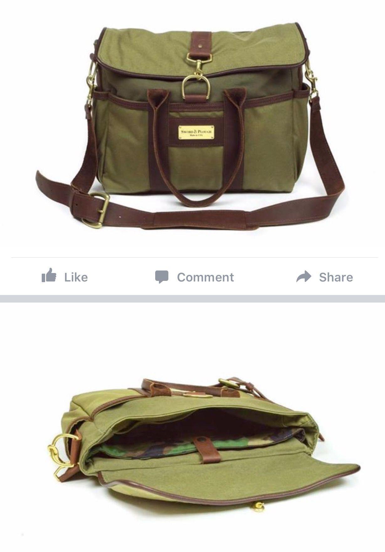 12311f4def363 Green Signature Messenger Bag - by SWORD  amp  PLOUGH Repurposed Military  Surplus