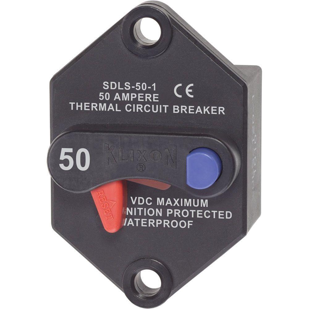 Blue Sea Klixon Circuit Breaker Panel Mount 50A