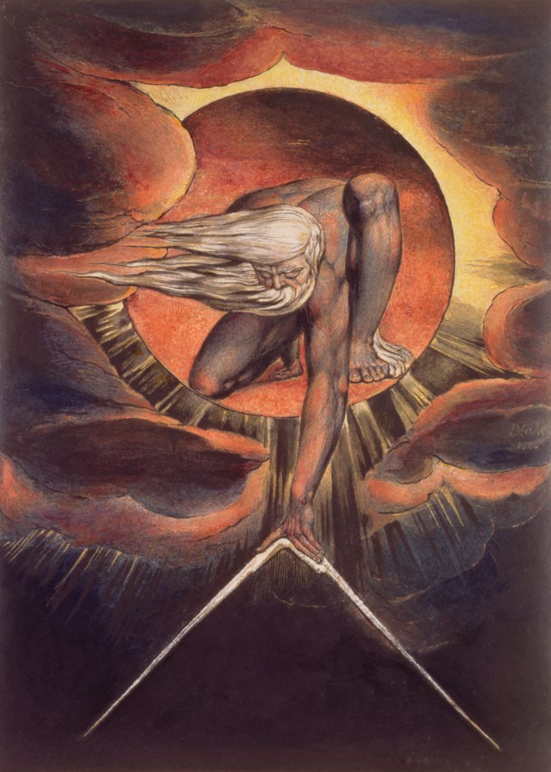 Image result for paintings and artwork William Blake curvature of space and time