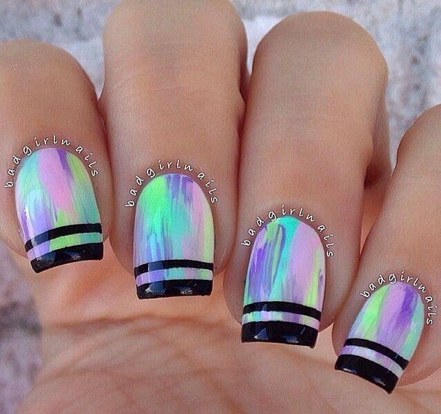 Pin de Pao M M en Neón   Pinterest   Diseños de uñas, Manicuras y ...