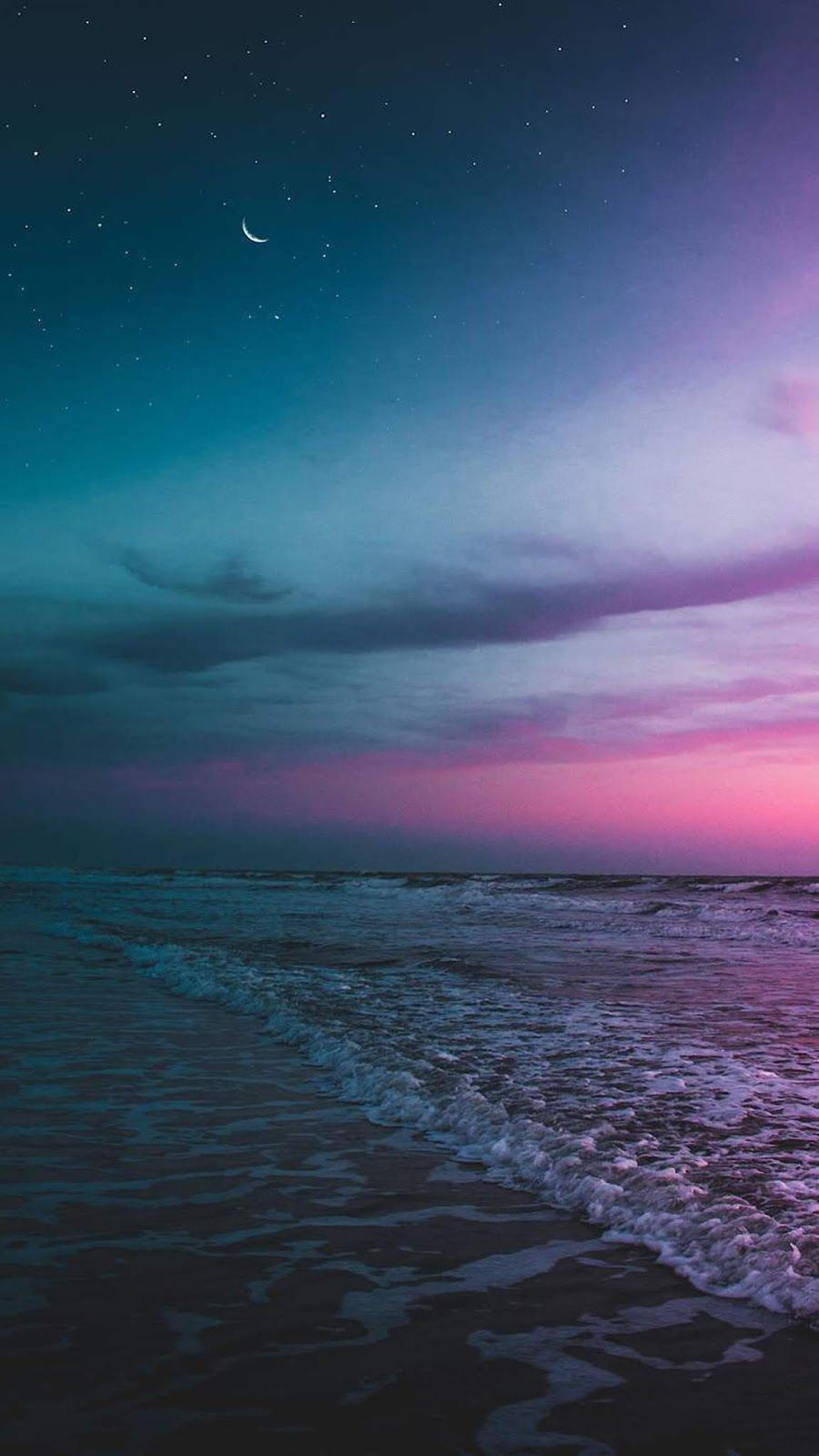 Beach The Night Sky Wallpaper Iphone Android Background Followme Night Sky Wallpaper Sky Aesthetic Night Skies