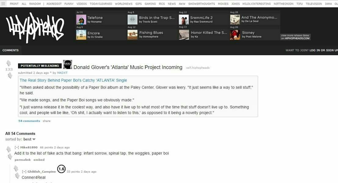 Read Reddit on our client Chemist x Paper Boi #Atlanta #Fx #DonaldGlover  https://www.reddit.com/r/hiphopheads/comments/51n2hm/donald_glovers_atlanta_music_project_incoming/