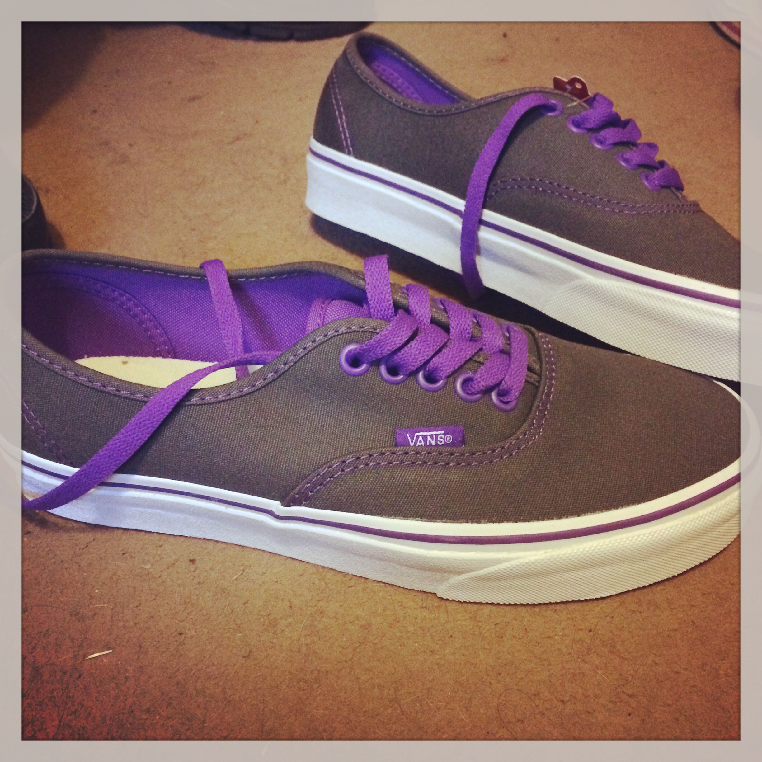 Grey and purple vans :)
