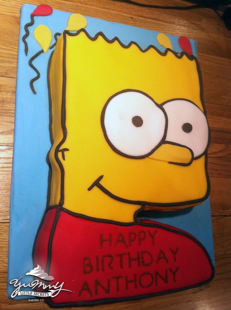 Excellent Bart Simpson Cake Simpsons Cake 8Th Birthday Cake Simpsons Party Funny Birthday Cards Online Alyptdamsfinfo