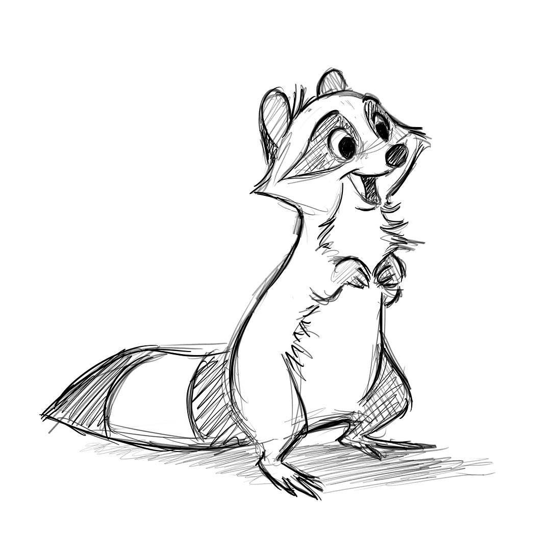 Jennifer Hager On Instagram Trying To Get Back Into Drawing More Frequently Here S A Little Ra Raccoon Illustration Animal Drawings Sketches Animal Drawings