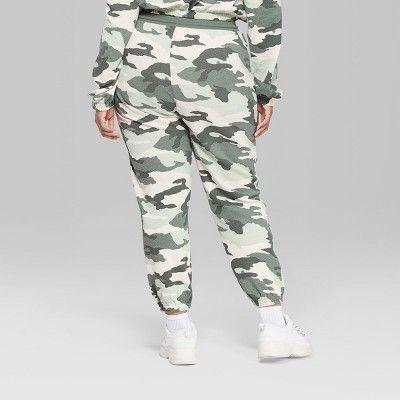 c95af62f99dd1 Women's Plus Size Camo Print Vintage Sweatpants - Wild Fable Green ...