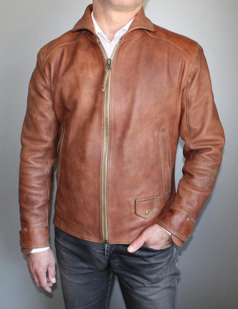 Unique Oldschool Jacket Men S Leather Jacket Etsy In 2020 Pilot Leather Jacket Leather Jacket Outfit Men Leather Jacket Men [ 1032 x 794 Pixel ]