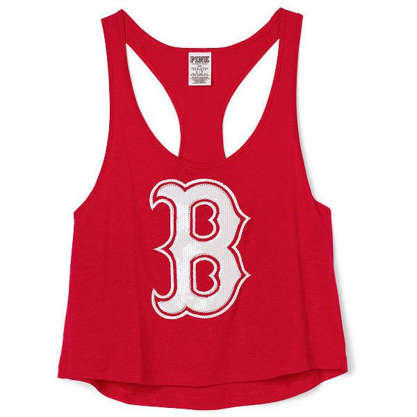 ae234ff1272 Victoria's Secret Boston Red Sox V-Neck Tee ($15) ❤ liked on Polyvore