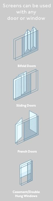Retractable fly screens for your bifold doors leading for Accordion retractable screen doors