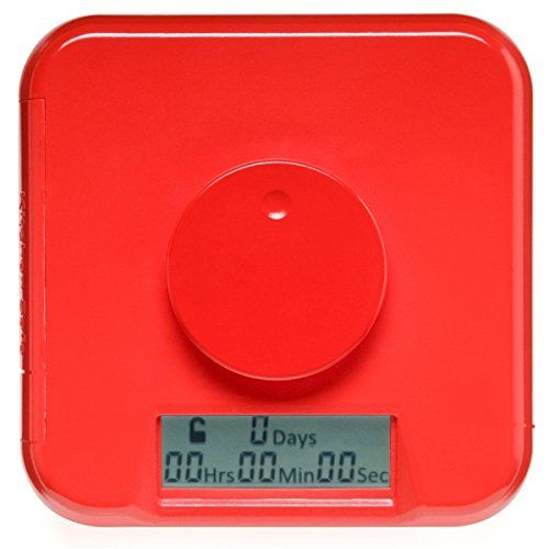 """Amazon.com: Kitchen Safe: Time Locking Container (Red Lid + Clear Base) - 5.5"""" Height: Kitchen & Dining"""