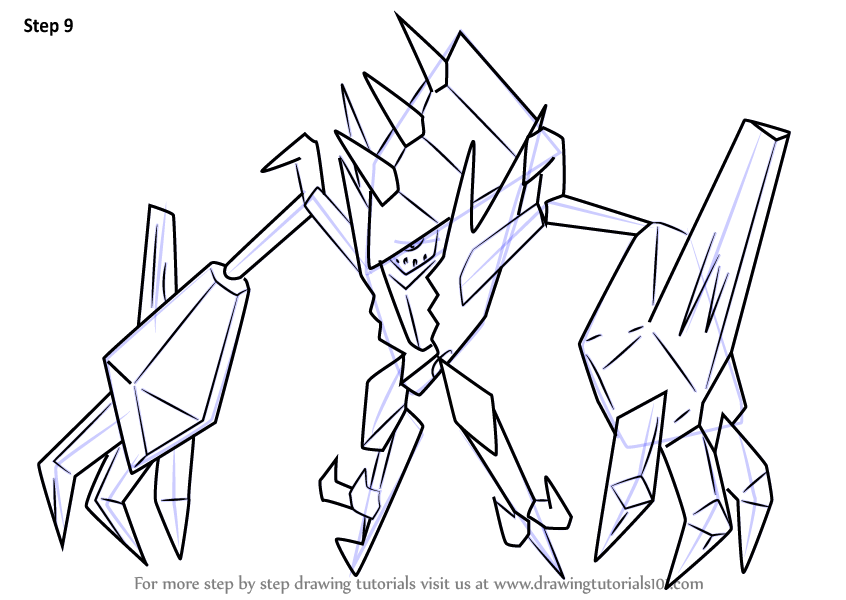 Learn How To Draw Necrozma From Pokemon Sun And Moon Pokemon Sun And Moon Step By Step Drawing Pokemon Coloring Pages Moon Coloring Pages Pokemon Coloring