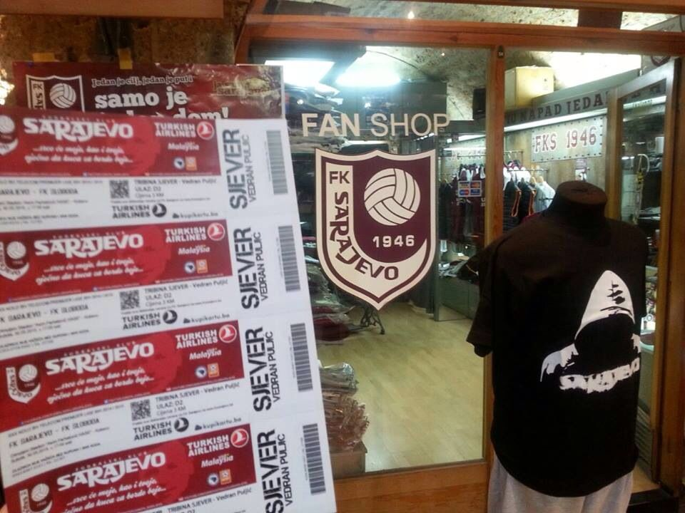 Tickets for North Stand and Fan Shop Sarajevo, Soccer